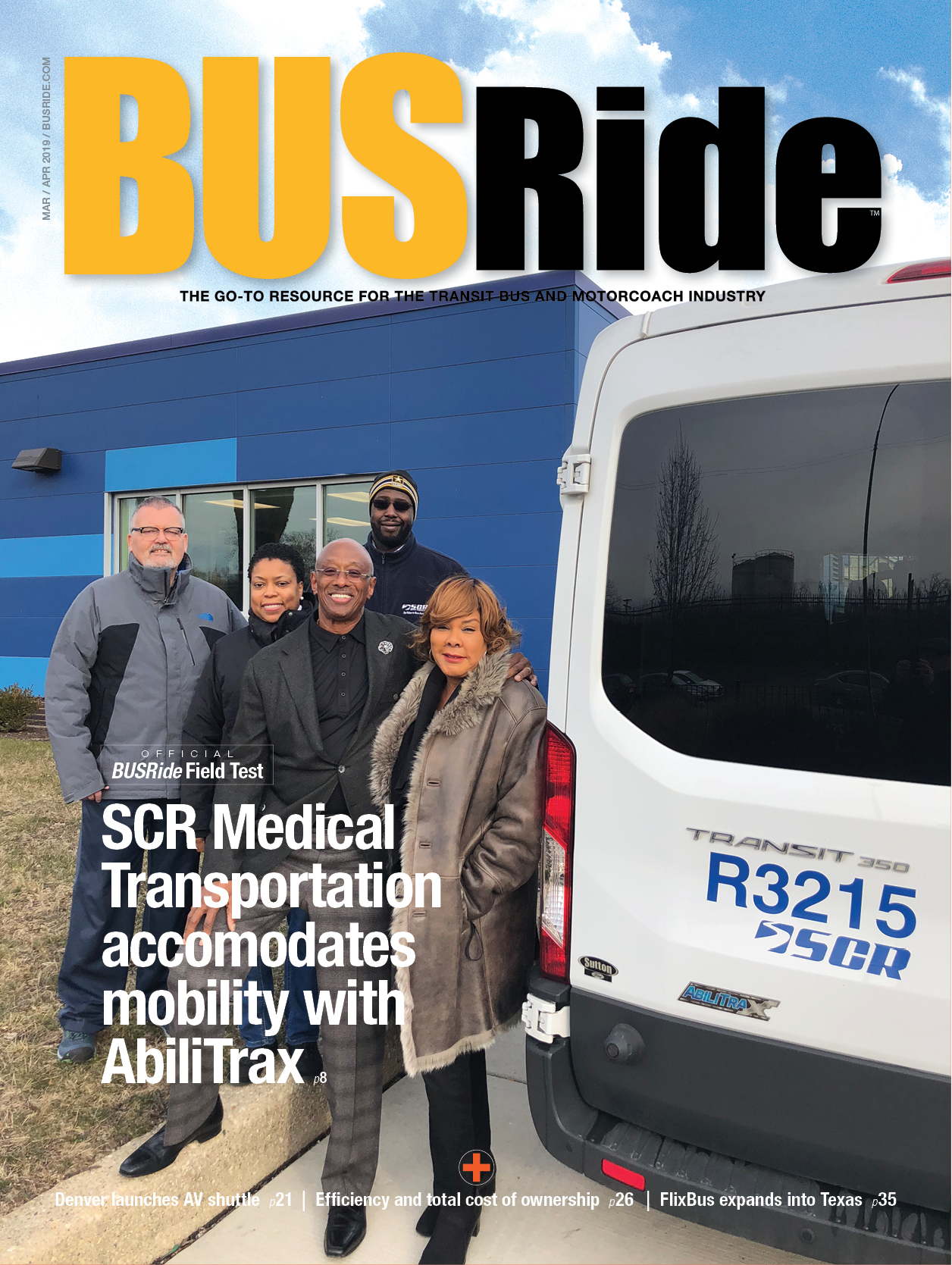 SCR Medical Transportation accommodates mobility with AbiliTrax
