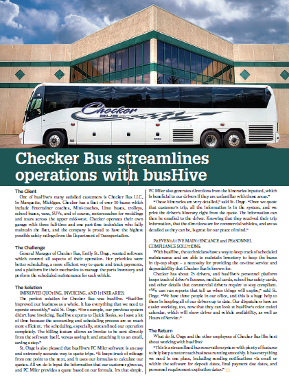 Checker Bus streamlines operations with busHive